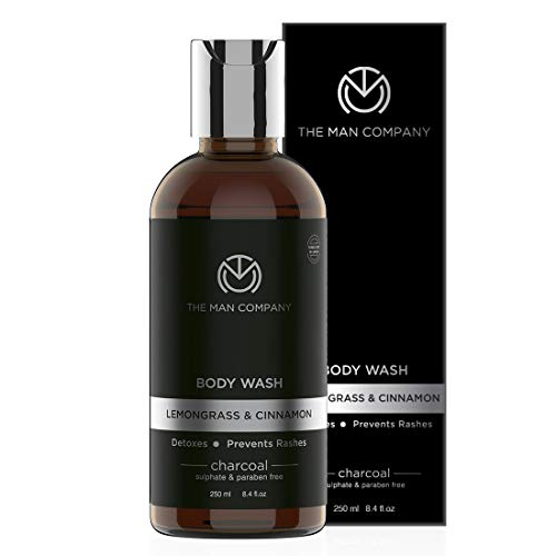The Man Company Deep Cleansing Activated Charcoal Body Wash - 250 Ml (With Lemongrass And Cinnamon Essential Oils) Sulphate & Paraben Free   Made in India