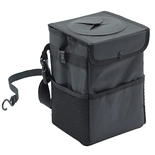 Cubo de Basura para Coche Papelera de coche a prueba de agua Papelera automática Organizador de automóviles basura de basura para basura Coches Coches Bolsillos de almacenamiento Accesorios portátiles