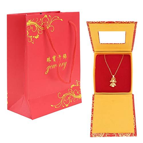 ABOOFAN Collar de ala Angular para Mujer Colgante de Cadena de Clavícula Graduación Presente Dorado 1 Juego