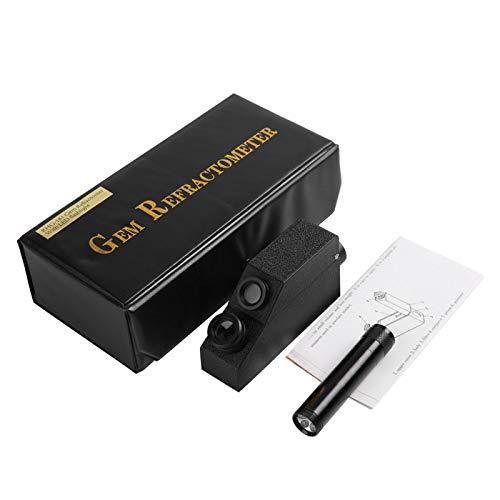 Refractómetro profesional Refractómetro Gemston RHG181 1.30-1.81 Bajo consumo de batería Ligero