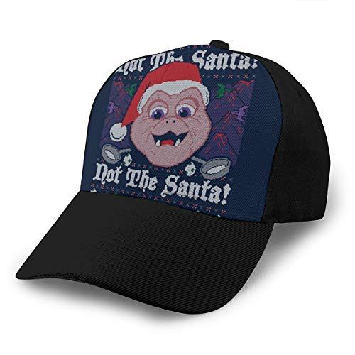 HONGYANW Gorra de béisbol Dinosaurios Not The Santa Baby Sinclair Patrón de punto de Navidad gorro ajustable transpirable para hombres y mujeres Snapback Trucker Cap negro