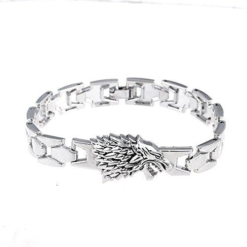 LUREME - Brazalete de lobo, para fanáticos de Game of Thrones (bl003036)