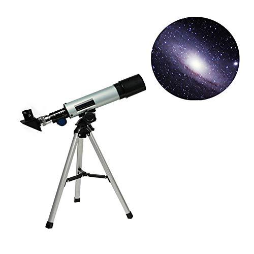 MAI&BAO Telescopio Astronómico Telescopio Terrestre Refractor Monocular con Trípode de Aleación de Aluminio Portable Telescopio para Niños