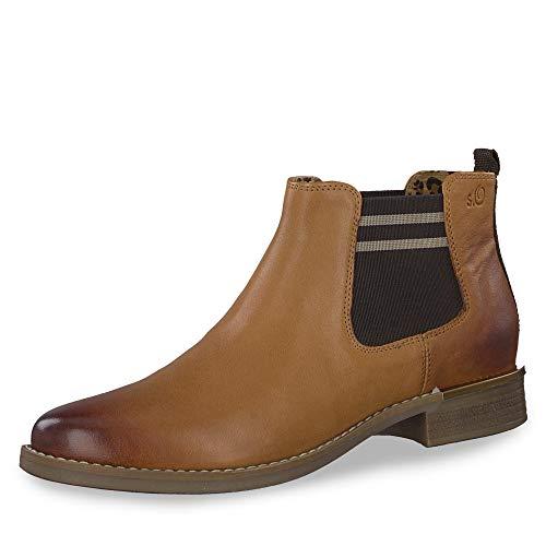 s.Oliver Damen 5-5-25335-33 305 Chelsea Boots, Braun (Cognac, 40 EU