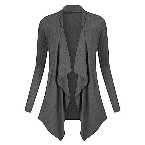 St.Dona_Women Coat Women Solid Drape Front Open Irregular Casual Cardigan Thin Coat Tops Outcoats