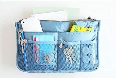 CHUANMEI Travel Cosmetic Bag Double Zipper Multifunctional Package Package de Rangement Sac de Lavage Pack up Blue, retro5