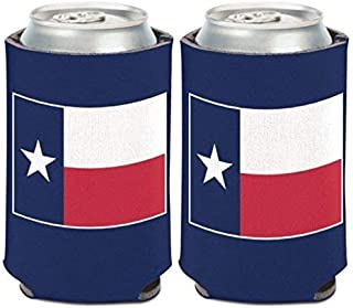 WinCraft State of Texas Flag 1 Pack 12 oz. Can Cooler Coozie