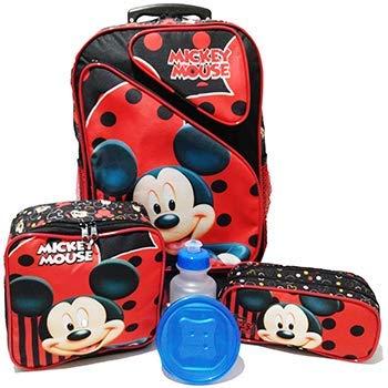 Kit Mochila Infantil Mickey Mouse Tam G Rodinhas