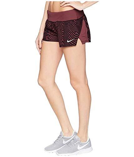 Nike Women's Dri-Fit 3' Printed Running Shorts (X-Large, Fuchsia)