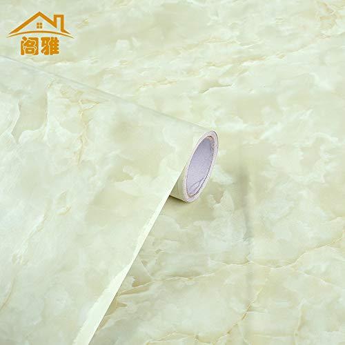 Marmortapete selbstklebend wasserdicht, Möbel Zähler Aufkleber Kabinett ölbeständige Folie Hauptfarbe Film F8060, 61cm * 50 Meter