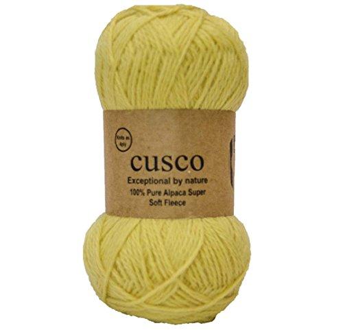 Alpaca Select Cusco Filo di lana di alpaca fine a 4 capi, per lavorare a maglia Yellow