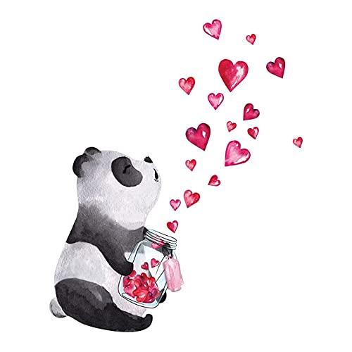 YGYT 47X38Cm Dibujado a Mano Panda Pegatina de Pared Estilo Chino Arte Mural Sala de Estar Dormitorio gabinete decoración decoración del hogar Pegatinas Lindas