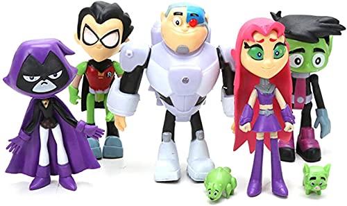 7 Pieces Teen Titans Go Toys, Teen Titans Go Action Figures Set - Robin,...