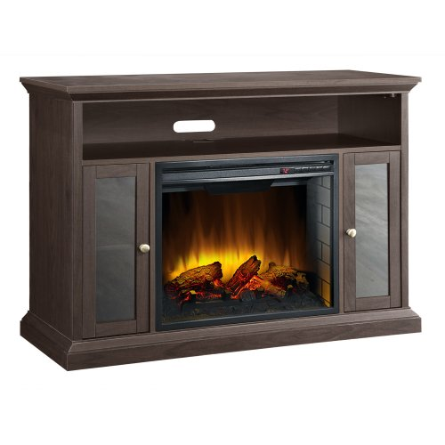 Pleasant Hearth Riley Espresso Media Electric Fireplace
