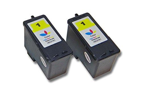 vhbw 2X Cartucho para Impresora Cartuchos de Tinta para Lexmark X2310, X2315, X2330, X2350, X2450, X2470, X3450, X3470 por Lexmark 1 18C0781E 18CX781E