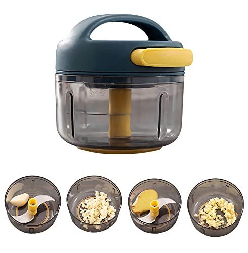 Cortador de verduras, multipicadora de cebolla, picadora manual de cocina con cuchillas, ideal para frutas y verduras, carne, cebolla, ajo, nueces,