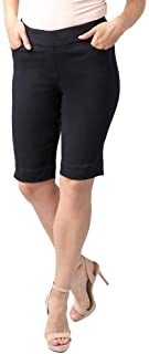 Vincente Women's Wide Band Pull-on Solid Walking Short