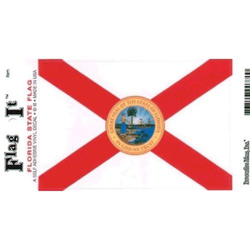 Florida USA State Flag Car Bumper Sticker Decal /'/'SIZES/'/'