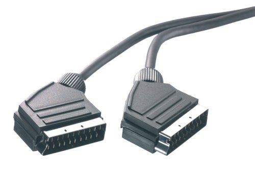 Vivanco Scart/Scart, 3m cable EUROCONECTOR SCART (21-pin) Negro - Cables EUROCONECTORES (3m, 3 m, SCART (21-pin), SCART (21-pin), Negro)