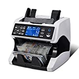 MUNBYN Bank Grade Money Counter Machine Mixed Denomination, Value Counting, Serial Number, Multi Currency, 2CIS/UV/IR/MG/MT Counterfeit Detection, Printer Enabled Bill Value Counter for Small Business