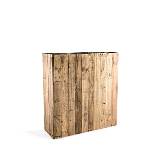 Luca Lifestyle Pflanzkübelonline Raumteiler Woodline High Box Dark Flame Wood Rechteckig 75x66.5x24.5cm - F476