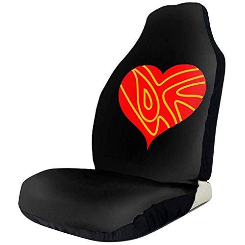 Preisvergleich Produktbild Sobre-mesa Red Heart Novel Fashion Pattern Autositzbezüge Full Set von 1,  Durable Universal Fit die meisten Auto,  LKW,  Geländewagen oder Van