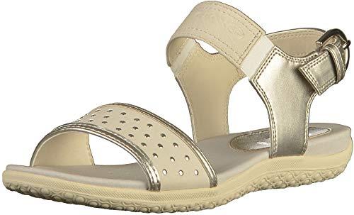 Geox Schuhe D Sand.Vega A Silver-Off White (D92R6A0AJAUC1N1Q) 36 Silber
