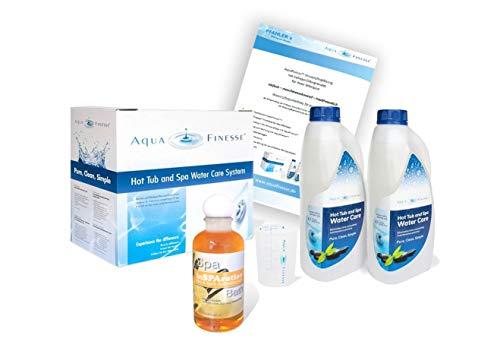 AquaFinesse mit Chlortabletten + Whirlpoolduft inSparation und ausführliche Wasserpflegeanleitung GRATIS Wasserpflegeset Verkaufsbox AquaFinesse