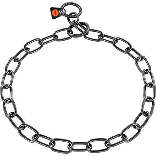 Sprenger - 39cm bis 72cm / Hundehalskette, langgliedrig medium, 3mm schwarz
