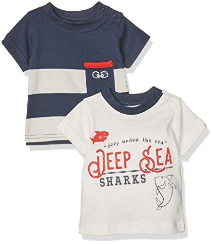 Julius Hüpeden GmbH Twins Baby-Jungen T-Shirt 2er PACK, Mehrfarbig (Mehrfarbig 3200), 62