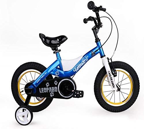 GAOTTINGSD Bicicletas para niños Conveniente bicicleta para niños, 14 pulgadas para hombres y mujeres de 3 a 6 a 8 años de edad, cochecito de bebé cómodo (color azul)