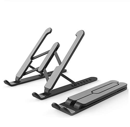 Soporte ajustable para ordenador portátil, portátil, ventilado, portátil, portátil, portátil, portátil, portátil, soporte de hasta 17 pulgadas (negro)