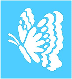 Auto Vynamics - STENCIL-BUTTERFLY-05 - Butterfly Design 5 Individual Stencil from Detailed Butterflies / Moths Stencil Set! - 9.5-by-10-inch Sheet - Single Design
