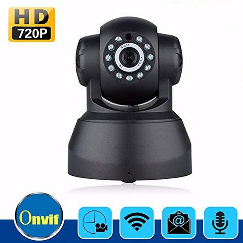 SSeir IP-Kamera, WiFi 1080P Home Security Camera Onvif P2P Remote Phone 1.0MP drahtlose Videoüberwachung Infrarot-Nachtsicht Zwei-Wege-Anruf, Weiss,Schwarz