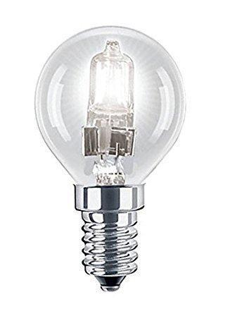 P45Eco Mini-Halogen-Leuchtmittel, Golfballform, 28W = 37W, dimmbar, energiesparend, E14SES kleines Edison-Gewinde, 240V, 42W, 3er-Pack
