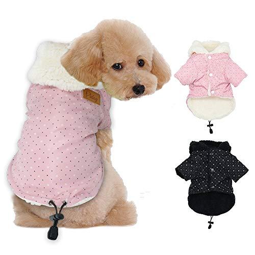 Tineer Pet Puppy Little Star Coat, Pet Dog Warm Winter Clothes Puppy Cats Abbigliamento per Maglioni Abbigliamento per Cani di Piccola Taglia (XL, Rosa)