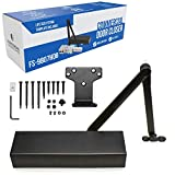 Fortstrong Ultra Heavy Duty Door Closer FS-9807HDBX - Grade 1 Commercial Standard Automatic Door Closing Mechanism - Durable Metal Casing - for High Traffic Areas - UL Listed, Black Finish