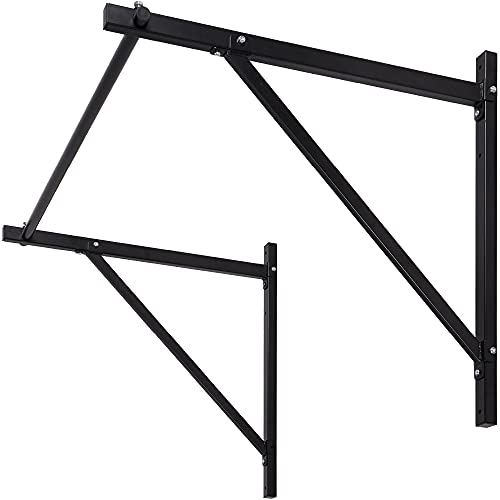 Best Choice Products 50in Heavy Duty Iron Wall-Mounted Pull Up Bar Home Gym, Fitness Exercise Chin Up Workout Station for Crossfit Traning w/ 500lbs Weight Capacity