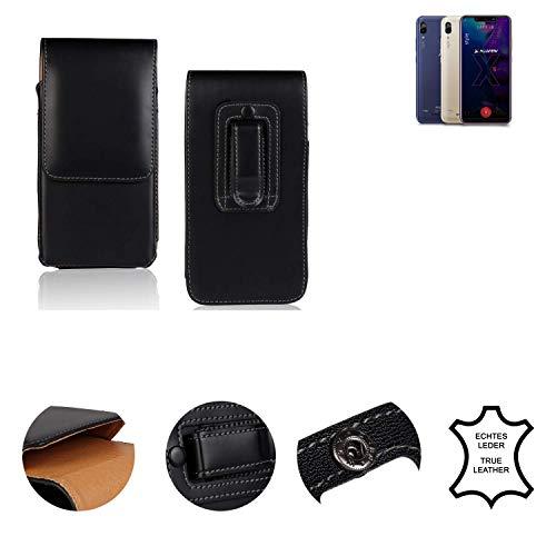 K-S-Trade® Holster Gürtel Tasche Für Allview Soul X5 Style Handy Hülle Leder Schwarz, 1x