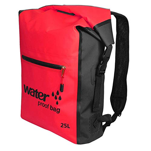 Bolsa seca impermeable mochila de natación 25L mochila para rafting al aire libre kayak boating drifting rojo impermeable Accesorios
