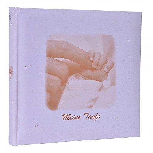 HENZO Baby Fotoalbum Händchen - Meine Taufe - 24,5 x 25,5 cm - 36 Seiten Album - Babyalbum - Geschenk zur Geburt oder Taufe - Taufalbum