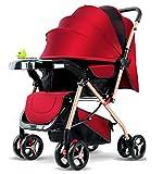 YYSDH 2020 Cochecito para niños, 360 Grados de rotación de Funciones del Carro de bebé de Cuero Carrito silleta, del Asiento Infantil