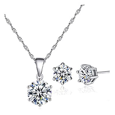 Women Necklace Set Charm Pendant Jewelry Gifts ...