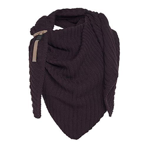 Knit Factory XXL Dreieckstuch Schal Umhängetuch Modell Demy Strickschal 190x85 cm schwarz