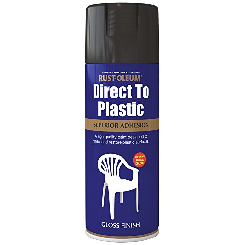 Rust-Oleum AE0030002E8 400ml Direct to Plastic Spray Paint- Bl