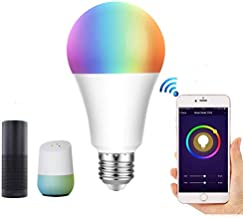 Lumive Smart WiFi Light Bulb E27 10W Remote Control Color Changing Led Lights Bulbs compatible with Alexa/Echo Google Home...