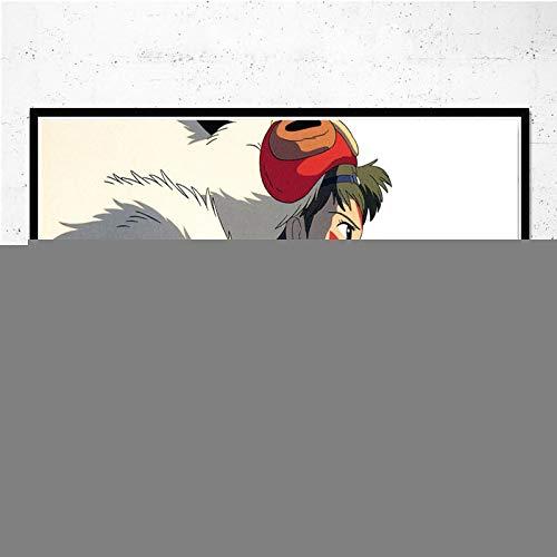 Impresiones En Lienzo, Póster De Anime De La Princesa Mononoke, Pintura En Lienzo, Cuadros De Pared para La Decoración De La Sala De Estar, Decoración del Hogar 50X70Cm No Cuadro,-Yf1342
