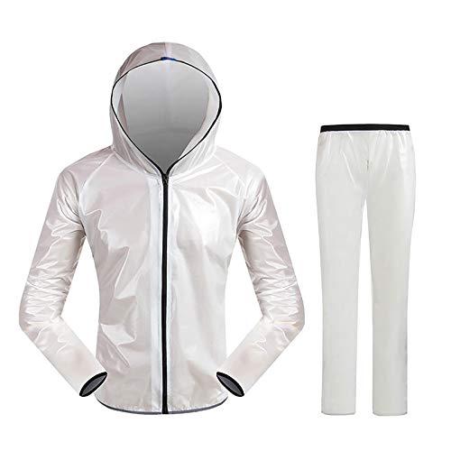 YXWJ Outdoor Waterproof Raincoat Motorcycle Cycling Rain Suits with Hood