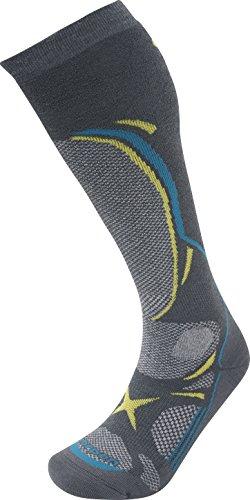 Lorpen Herren T3 Ski-Socken, mittelschwer, Dunkelgrau, Größe L