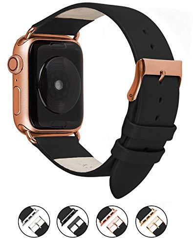 Wildery Correa de Piel auténtica Compatible con Apple Watch Series 1/2/3 y Series 4/5, con Hebilla a Juego.